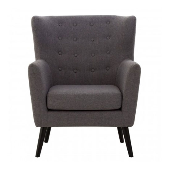 Odensy Fabric Armchair In Grey