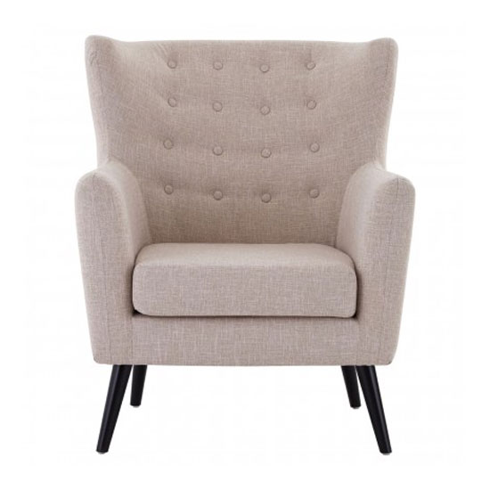 Odensy Fabric Armchair In Natural