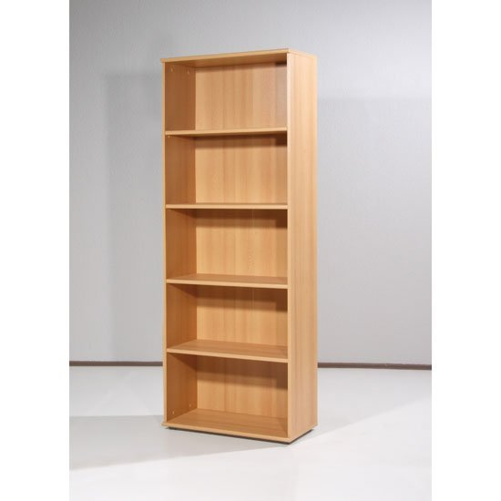 Power Range Beech Finish Filing Cabinet with 4 Shelves