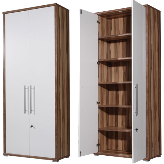 Sector Lockable Tall Baltimore/Walnut 5 Shelf Filing Cabinet