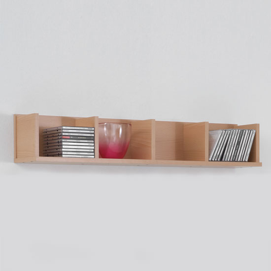 beech wall mounted display shelves point4 ebay