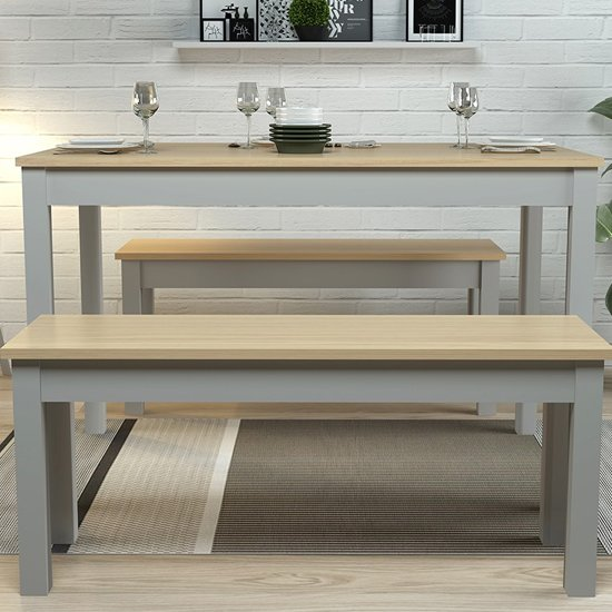 Ohio Wooden Dining Set In Oak And Grey_2