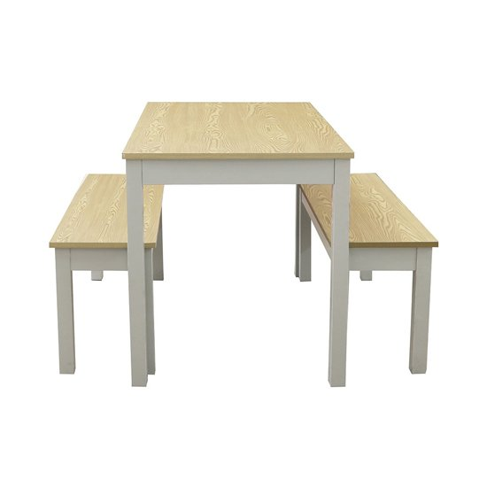 Ohio Wooden Dining Set In Oak And Grey