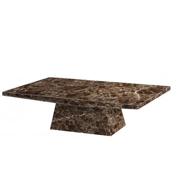 Olena Contemporary Marble Coffee Table Rectangular In Natural
