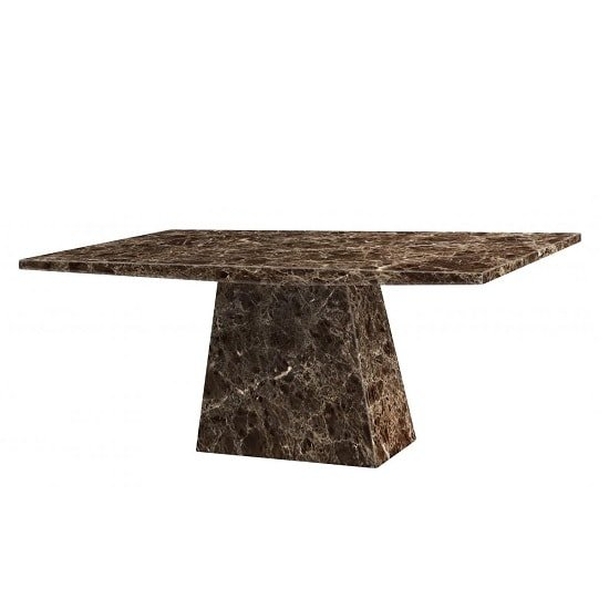 Olena Contemporary Marble Dining Table Rectangular In Natural