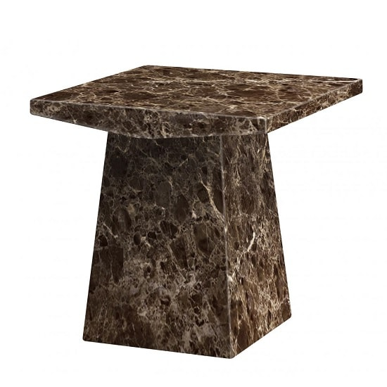 Olena Contemporary Marble Lamp Table Square In Natural