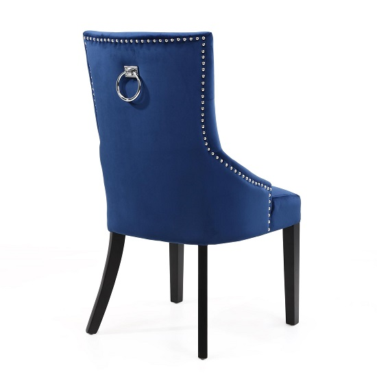 Olenna Accent Chair In Blue Brushed Velvet With Black Legs_2
