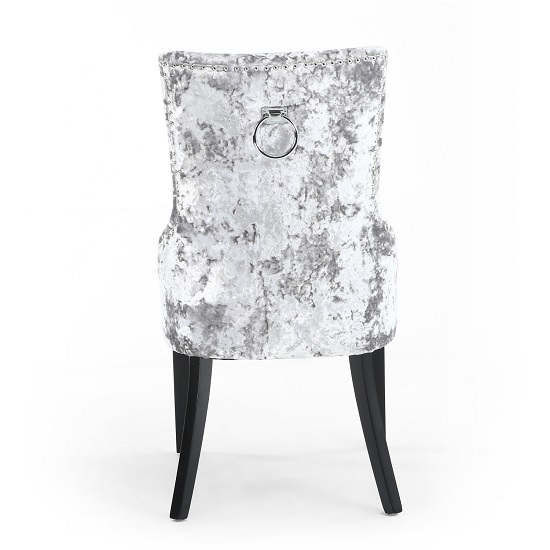 Olenna Accent Chair In Silver Crushed Velvet With Wooden Legs_4