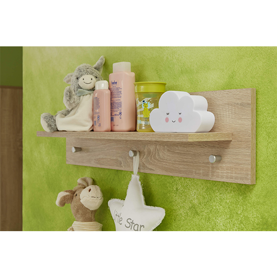 Oley Wooden Wall Shelf In Sagerau Light Oak