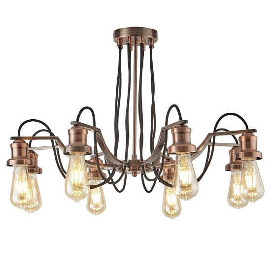 Olivia 8 Light Ceiling Light In Antique Copper