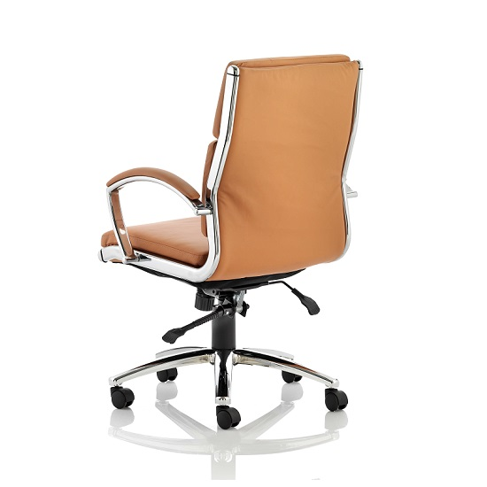 Olney Bonded Leather Office Chair In Tan With Medium Back_2