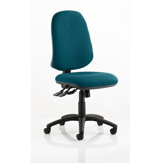 Olson Home Office Chair In Kingfisher With Castors