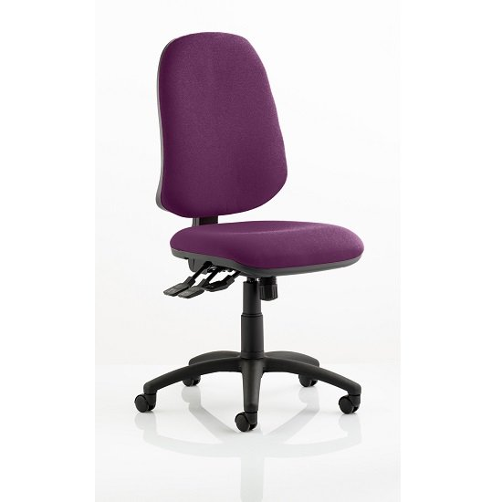 Olson Home Office Chair In Purple With Castors