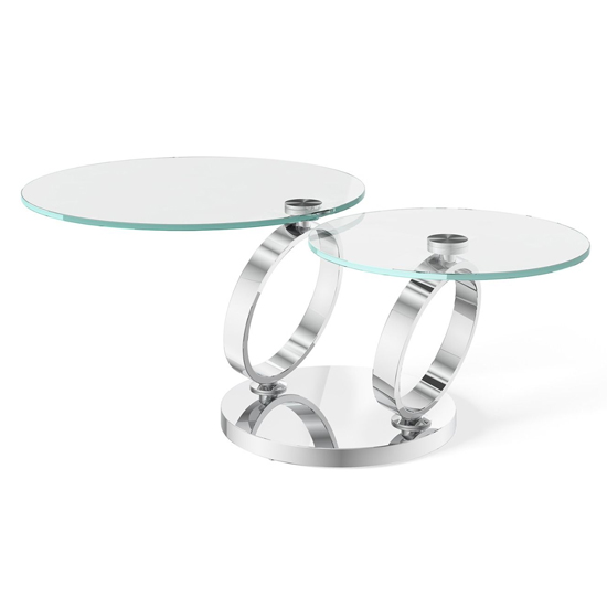 Olympia Swivel Extending Glass Coffee Table
