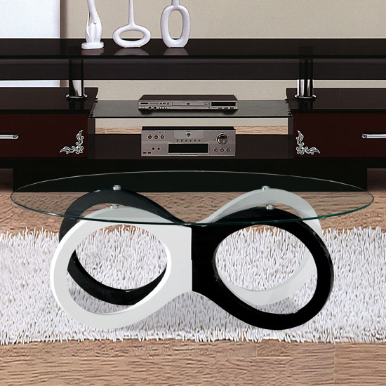 Olympia black and white coffee table 16390 furniture in Black and white coffee table