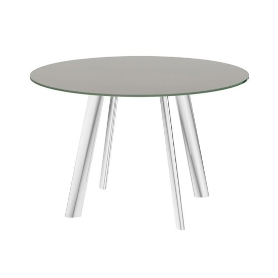 Omega Swivel Extending Taupe Glass Dining Table_3