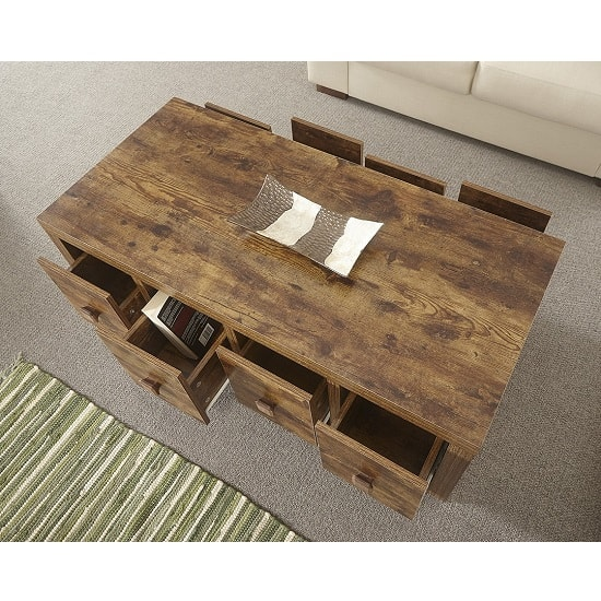Omero Wooden Storage Coffee Table With 8 Drawers_2