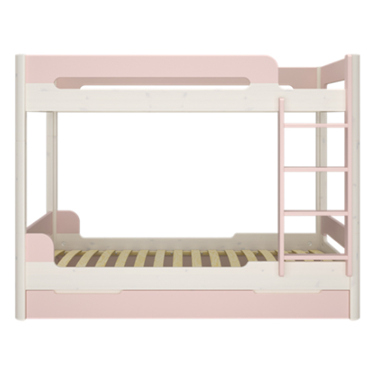 Oniria Wooden Bunk Bed With Guest Bed In Whitewash Pink_3