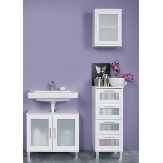 Onix Bathroom Furniture Set 1 In White And Glass Fronts