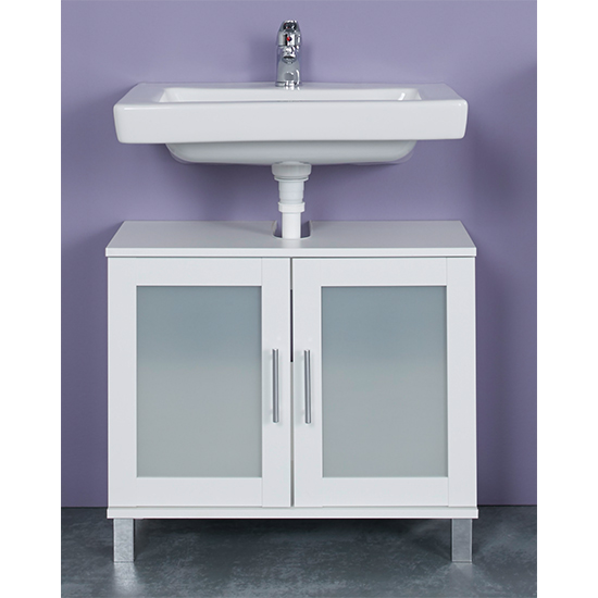 Onix Bathroom Furniture Set 4 In White And Glass Fronts_4