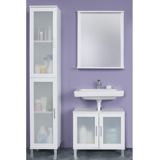 Onix Bathroom Furniture Set 4 In White And Glass Fronts_1