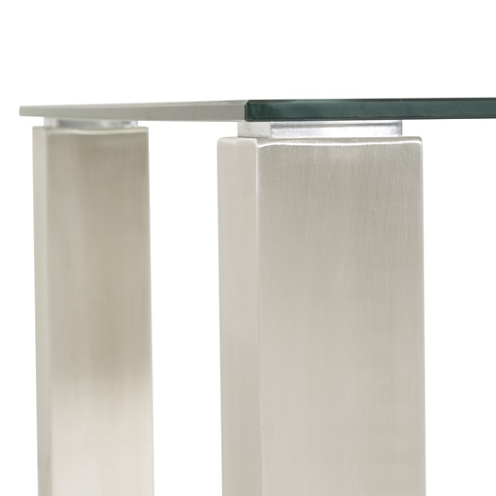 Ontario Glass Dining Table Rectangular With Stainless Steel Base_4