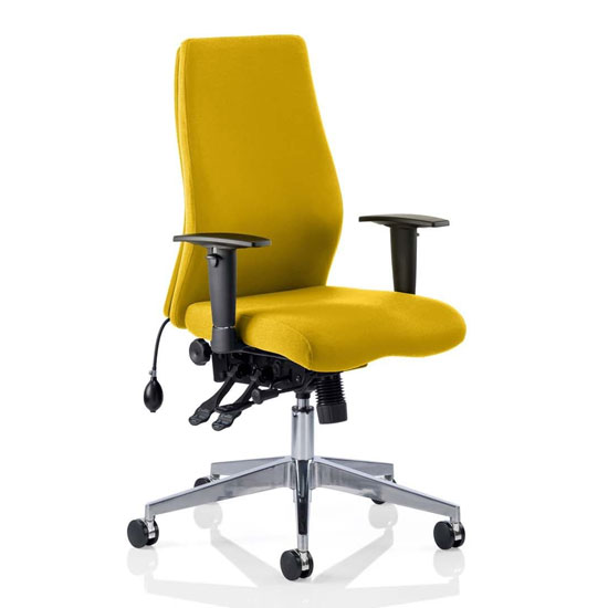 Onyx Office Chair In Senna Yellow With Arms