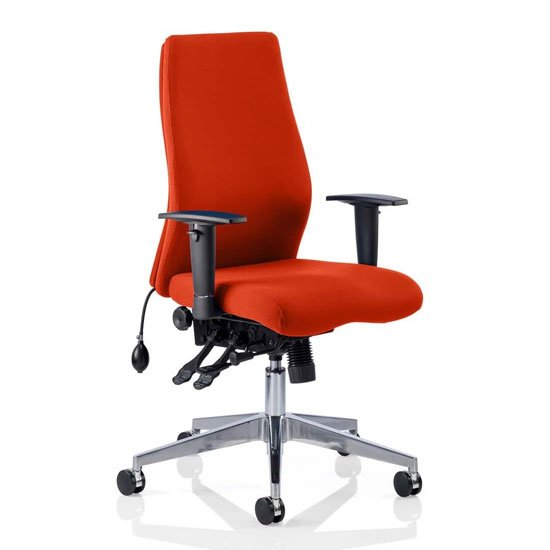 Onyx Office Chair In Tabasco Red With Arms