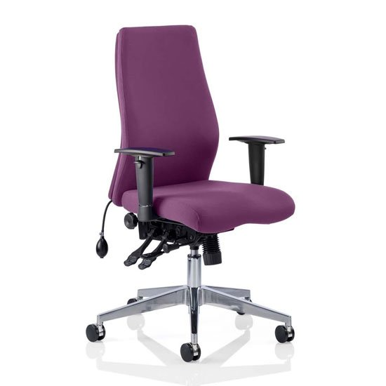 Onyx Office Chair In Tansy Purple With Arms_1