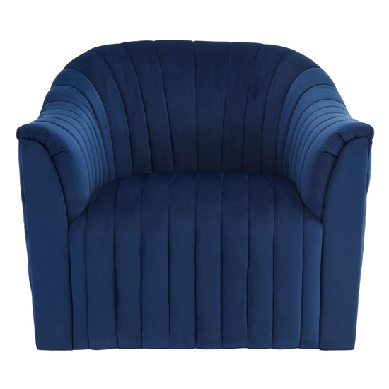 Larawag Velvet Armchair In Deep Blue      _1