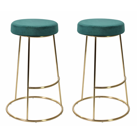 Opera Teal Finish Bar Stool In Pair