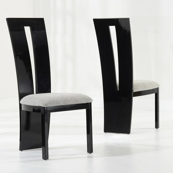 Hamlet marble dining table in black and 6 ophelia grey for Grey and black dining chairs