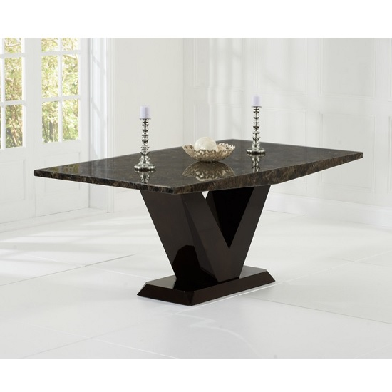 Ophelia Marble Dining Table Rectangular In All Brown_1