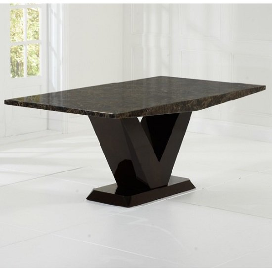 Ophelia Marble Dining Table Rectangular In All Brown_2