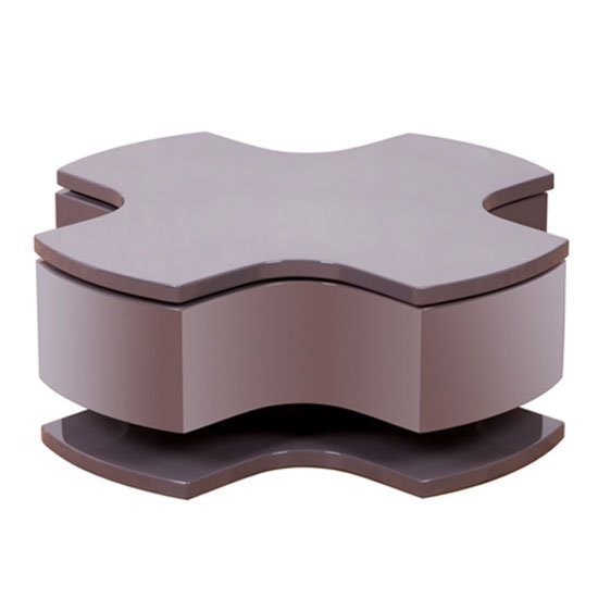 Optima Taupe High Gloss Motion Coffee Table 12195 Furniture
