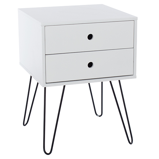 Options Telford Bedside Cabinet In White With 1 Drawer