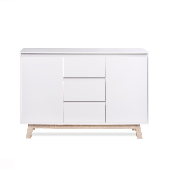 Optra Sideboard In White And Oak Trim With 2 Doors_4