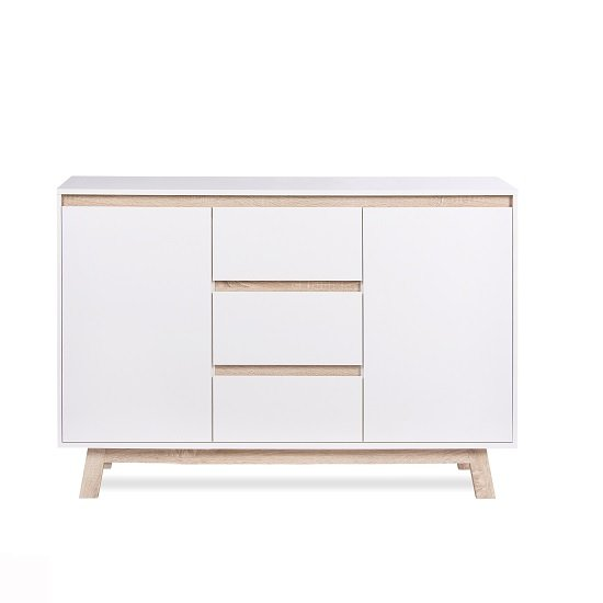 Optra Sideboard In White And Oak Trim With 2 Doors_3