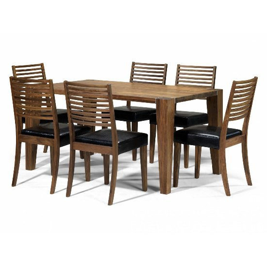 Opus Solid Walnut 4 Seater Dining Set