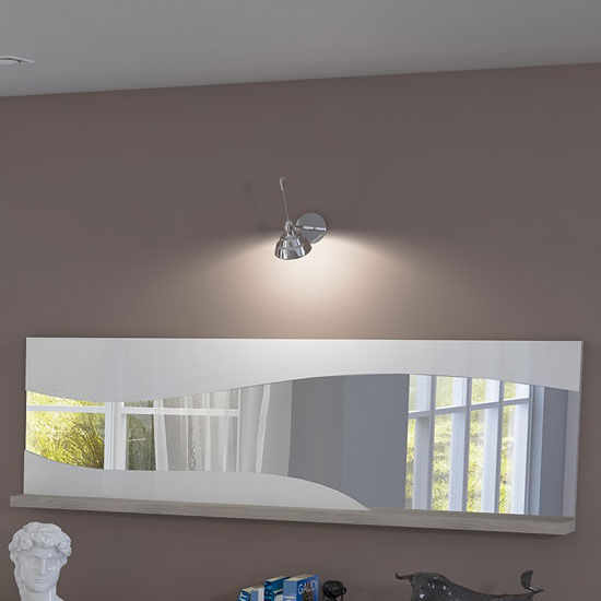 Read more about Oracle wall mirror rectangular in oak and white