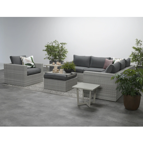 Oravo Corner Sofa Group With Armchair In Organic Grey_2