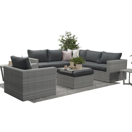 Oravo Corner Sofa Group With Armchair In Organic Grey_7