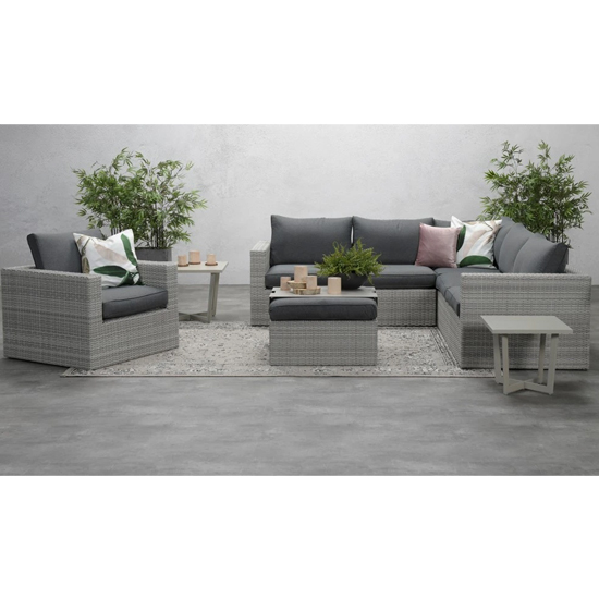 Oravo Corner Sofa Group With Armchair In Organic Grey_1