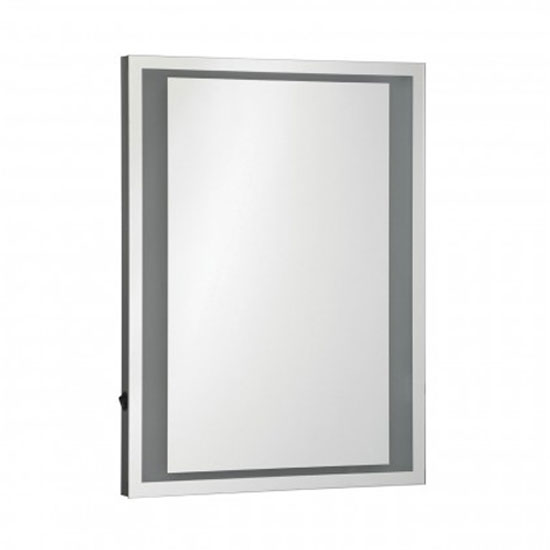 Oren LED Wall Bedroom Mirror In Silver Frame