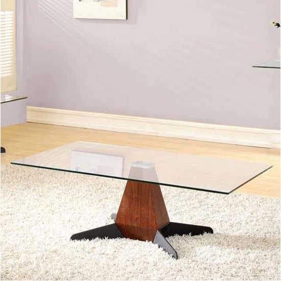 Oreo Clear Glass Coffee Table