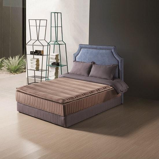 Organic Luxury Pillowtop Mattress In Linen Light Brown