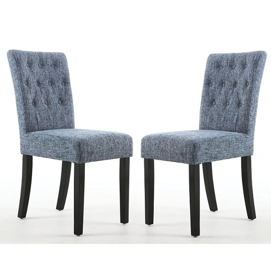Oriel Dining Chair In Oxford Blue With Black Legs In A Pair_1