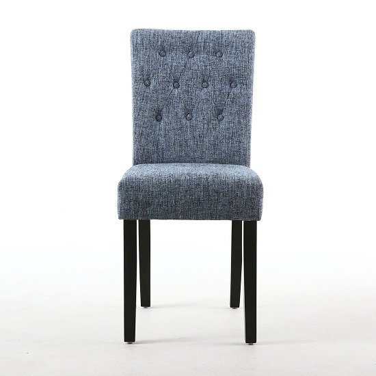 Oriel Dining Chair In Oxford Blue With Black Legs In A Pair_2