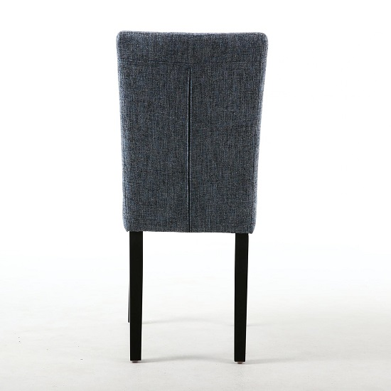 Oriel Dining Chair In Oxford Blue With Black Legs In A Pair_3