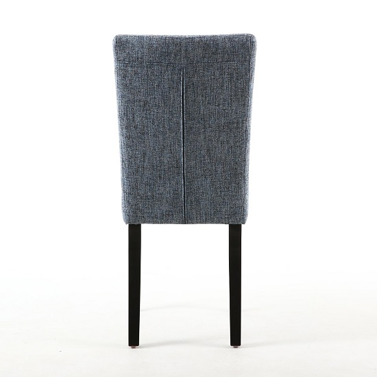 Oriel Dining Chair In Oxford Blue With Brown Legs In A Pair_3